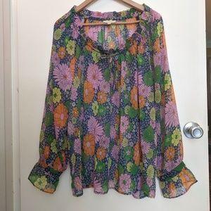 Floral Peasant Shirt